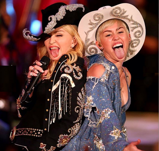 Screen shot 2014 01 28 at 11.45.26 PM Watch:  Miley Cyrus & Madonna Duet With Dont Tell Me On MTV Unplugged