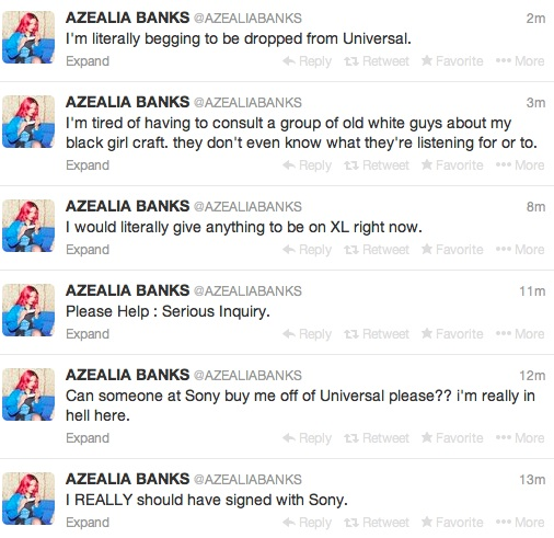 azealia banks drama Drama: Azealia Banks Slams Label / Begs For Sony To Sign Her