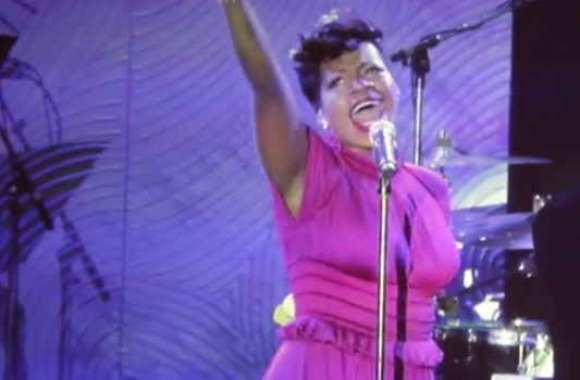 fantasia clive davis party Must See: Fantasia Rocks Clive Davis Grammy Party With Stormy Weather
