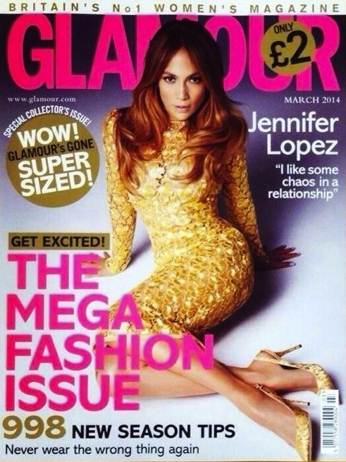 jlo glamour 2014 Jennifer Lopez Glows Gold For Glamour Magazine