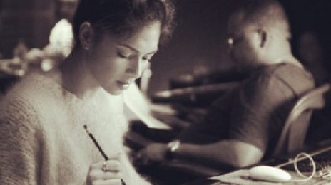 Hot Shot: Nicole Scherzinger Hits Studio With Tricky Stewart