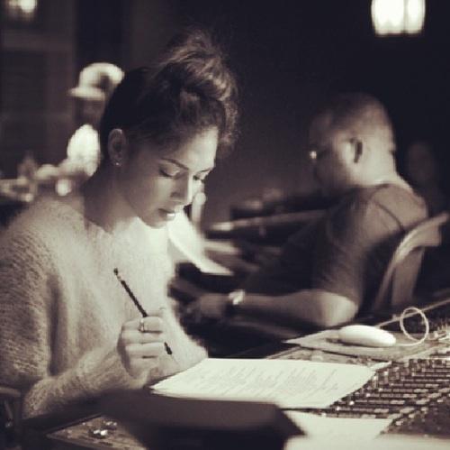 nicole scherzinger 2014 Hot Shot: Nicole Scherzinger Hits Studio With Tricky Stewart