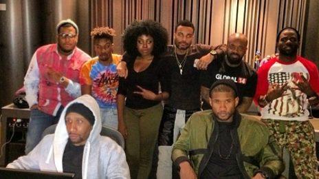 Hot Shot: Usher Hits Studio With Jermaine Dupri For New Album