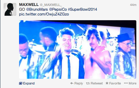 Screen shot 2014 02 02 at 8.04.32 PM Celebrities React To Bruno Mars Show Stopping Super Bowl Half Time Show