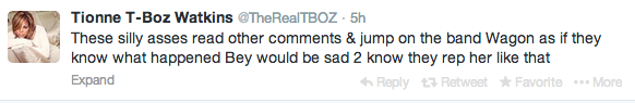 Screen shot 2014 02 23 at 7.37.20 AM Weigh In:  T Boz Suffers Twitter Attack After Indirectly Comparing Miley Cyrus To Rihanna & Beyonce