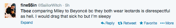 Screen shot 2014 02 23 at 7.47.33 AM Weigh In:  T Boz Suffers Twitter Attack After Indirectly Comparing Miley Cyrus To Rihanna & Beyonce