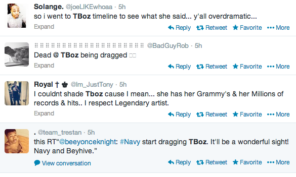 Screen shot 2014 02 23 at 7.48.12 AM Weigh In:  T Boz Suffers Twitter Attack After Indirectly Comparing Miley Cyrus To Rihanna & Beyonce