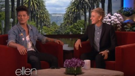 "Watch: Bruno Mars Blasts ""Disgusting"" 'Super Bowl' Halftime Critics On 'Ellen'"