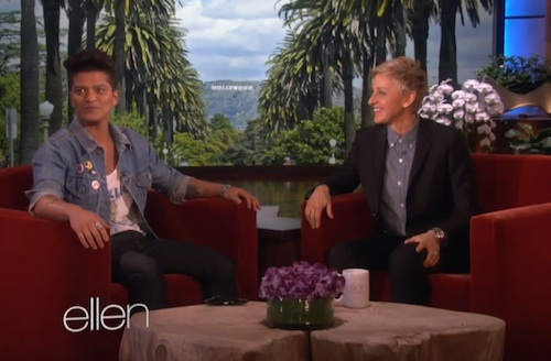 bruno mars ellen Watch: Bruno Mars Blasts Disgusting Super Bowl Halftime Critics On Ellen