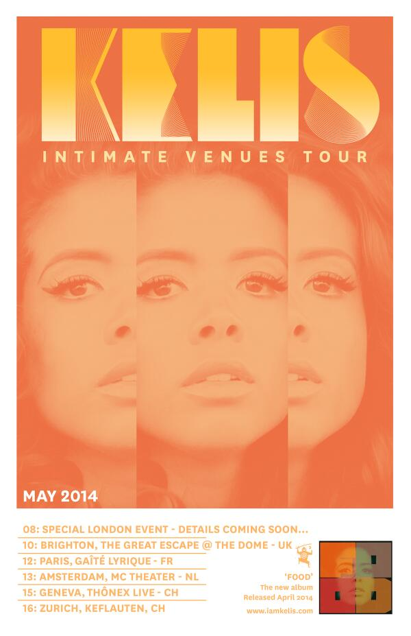kelis that grape juice she is diva world tour Kelis Announces Intimate Venues Tour