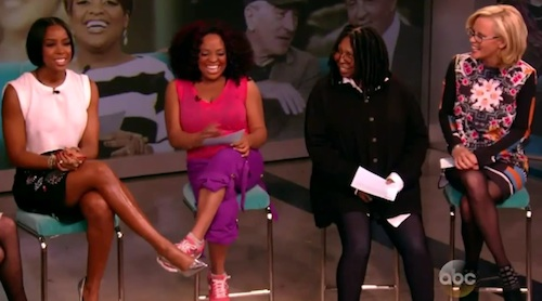 kelly rowland the view Kelly Rowland Celebrates Birthday On The View / Talks Engagement & End Of X Factor