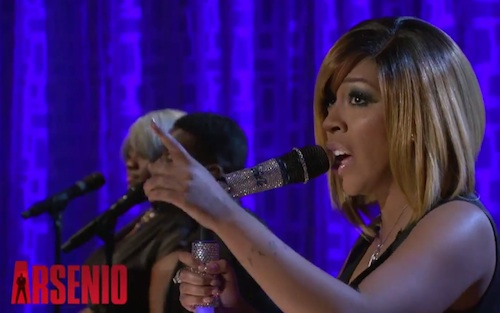 kmichelle arsenio K. Michelle Claps Back At Haters & Performs Cant Raise A Man On Arsenio