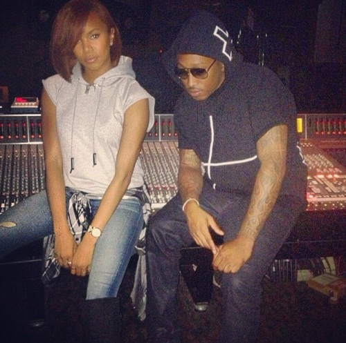 Hot Shots Letoya Luckett Hits Studio With Future Mike Will Made