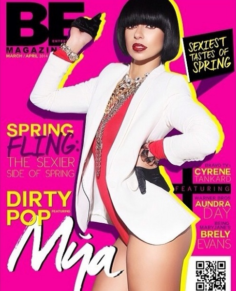 mya be magazine 2014 thatgrapejuice Mya Beams Bold For BE Magazine