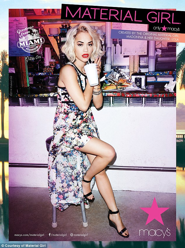 rita ora she is diva that grape juice 2014 1 Behind The Scenes: Rita Ora Kicks Off New Campaign With Material Girl Shoot
