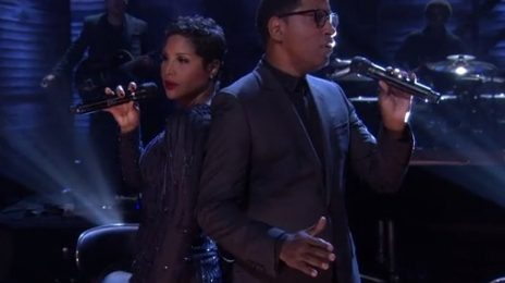 Watch: Toni Braxton & Babyface Rock 'Conan'