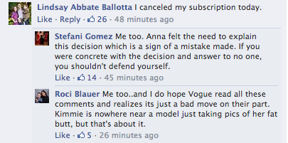 Screen Shot 2014 03 21 at 20.01.22 Oh No! Vogue Readers Slam Kim Kardashian & Kanye West Cover / Threaten To Cancel Subscriptions