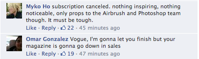 Screen Shot 2014 03 21 at 20.02.20 Oh No! Vogue Readers Slam Kim Kardashian & Kanye West Cover / Threaten To Cancel Subscriptions
