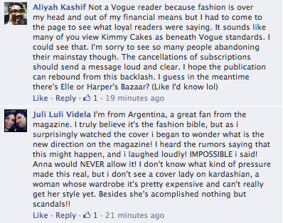 Screen Shot 2014 03 21 at 20.23.52 Oh No! Vogue Readers Slam Kim Kardashian & Kanye West Cover / Threaten To Cancel Subscriptions