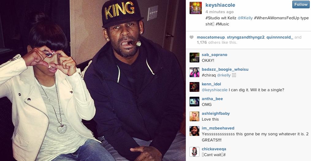 Keyshia Cole Hits The Studio With...R.Kelly - That Grape Juice.net ...