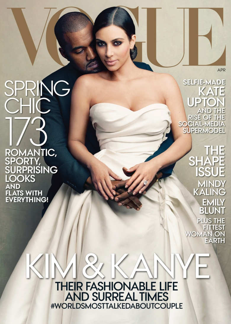 kim kanye vogue april 2014 Kanye West & Kim Kardashian Cover...Vogue