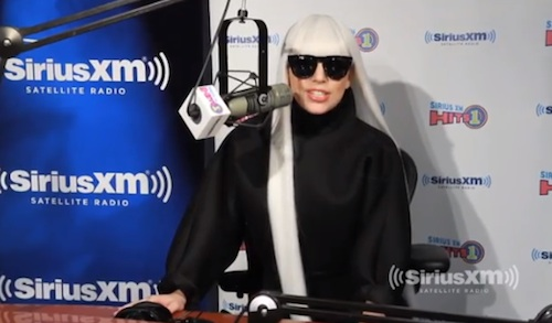 lady gaga sirus radio Watch: Lady GaGa Dissects G.U.Y Video On Sirus XM Radio