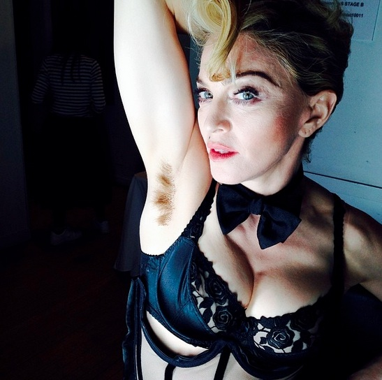 madonna underarm Stunt Queen? Madonna Posts Pic Of Underarm Hair
