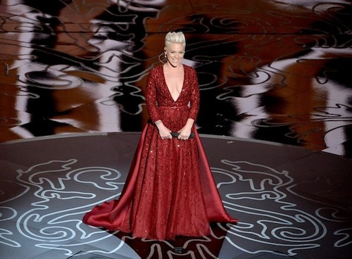 Watch: Pink Soars Over The Rainbow At Oscars 2014