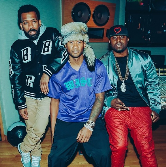 usher rico love thatgrapejuice Hot Shots: Usher Hits Studio With Rico Love For New Album