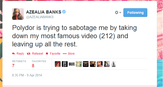 Azealia-Banks-Polydor-Sabotage-Claims-That-Grape-Juice