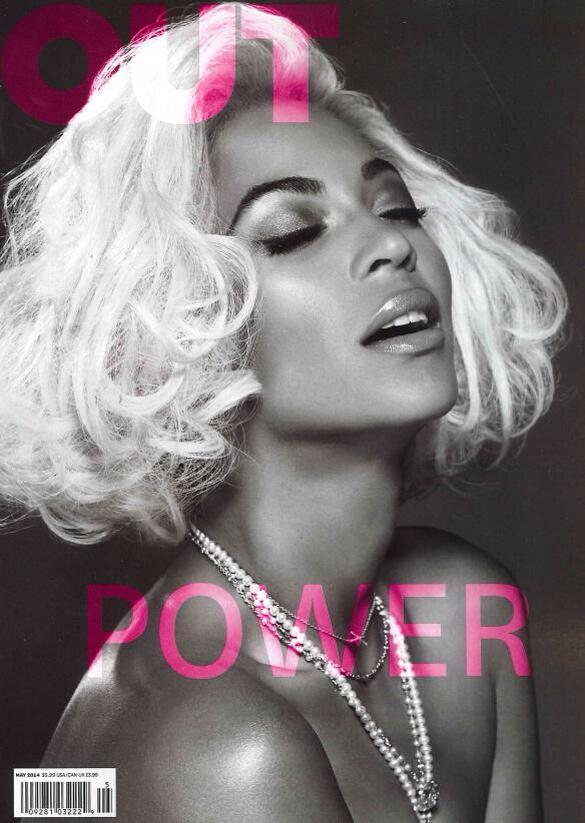 beyonce out magazine 2014 Beyonce Covers OUT Magazines Power Issue