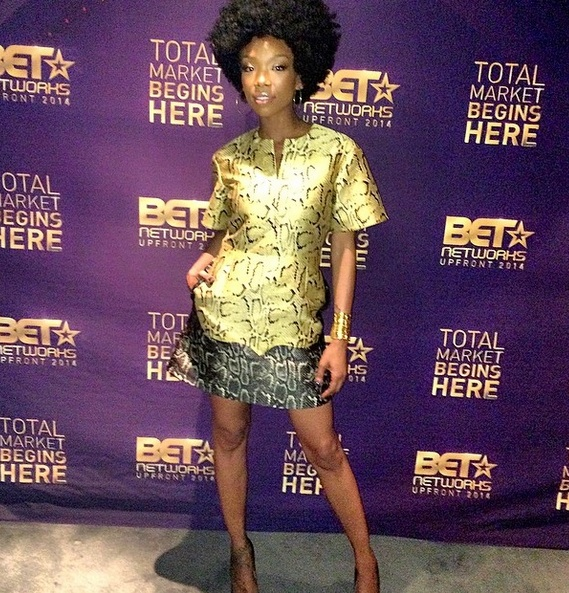 brandy afro thatgrapejuice Hot Shot: Brandy Debuts Bold New Afro