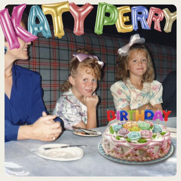 katy perry birthday cover tgj Katy Perry Unwraps Birthday Single Cover