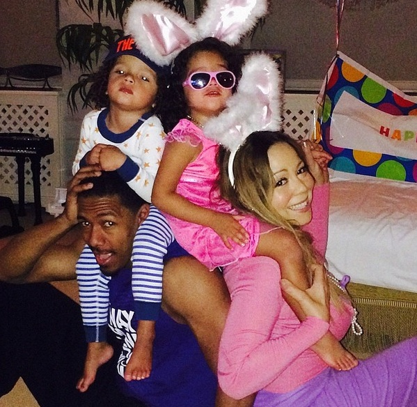 mariah easter 1 Hot Shots: Mariah Carey Celebrates Easter With Family