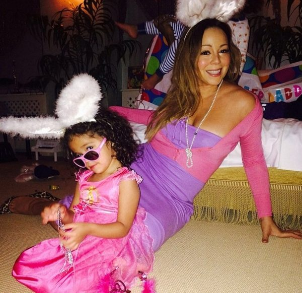 mariah easter 2 600x582 Hot Shots: Mariah Carey Celebrates Easter With Family