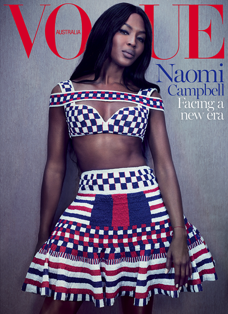 naomi campbell vogue australia Fierce: Naomi Campbell Covers Vogue Australia