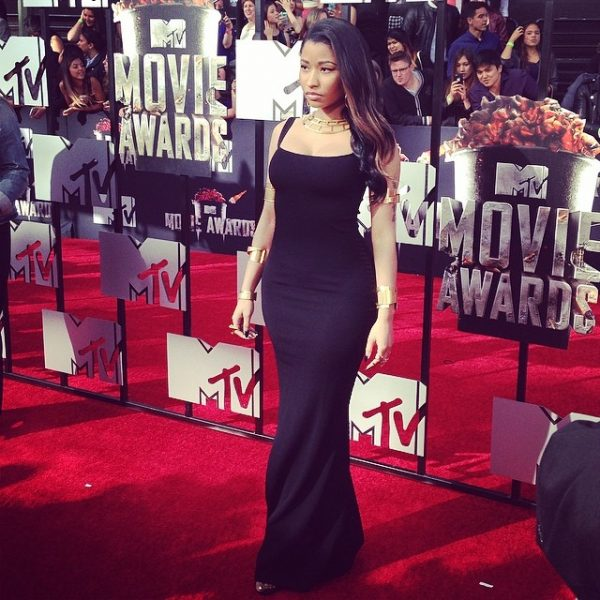 nicki minaj 11 600x600 Red Carpet: MTV Movie Awards 2014