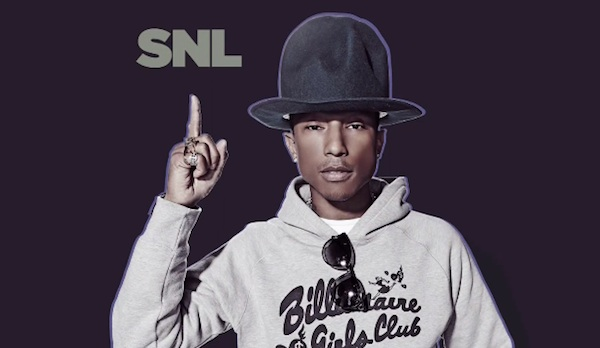 pharrell williams snl 2014 Watch: Pharrell Williams Performs On SNL