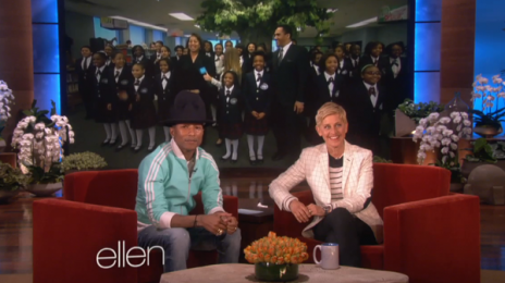 "Watch:  Pharrell Williams Wins Hearts With ""Happy"" On Ellen, Readies Appearance On ""Oprah Prime"""
