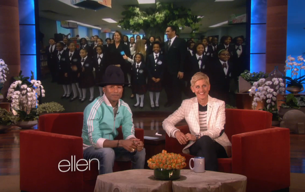 pharrelldetroitkids Watch:  Pharrell Williams Wins Hearts With Happy On Ellen, Readies Appearance On Oprah Prime