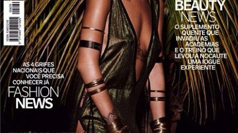 Behind The Scenes: Rihanna Heats Up For 'Vogue Brazil' Shoot