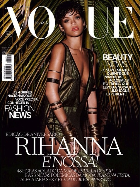 rihanna vogue brasil thatgrapejuice11 Behind The Scenes: Rihanna Heats Up For Vogue Brazil Shoot
