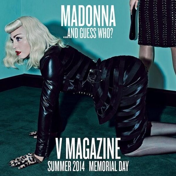 Madonna V Magazine That Grape Juice 600x600 Must See: Katy Perry & Madonna Rock V With Joint Spread