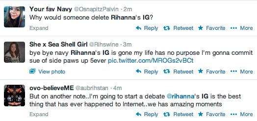 Report: 'Instagram' Deletes Rihanna Account - That Grape Juice