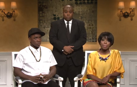 Screen shot 2014 05 18 at 10.25.36 AM Watch:  Saturday Night Live Spoofs Jay Z & Solange Spat