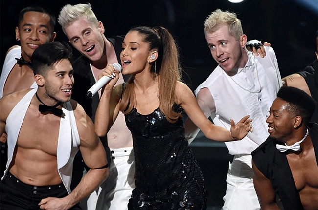 ariana grande iheartradio music awards 2014 billboard 650 Watch:  Ariana Grande Rocks iHeartRadio Music Awards With Problem
