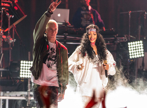 eminem rihanna that grape juice 9jpg Eminem Becomes First Rapper To Headline Wembley Stadium