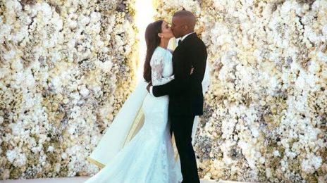Hot Shot: Kanye West & Kim Kardashian Share First Wedding Snap