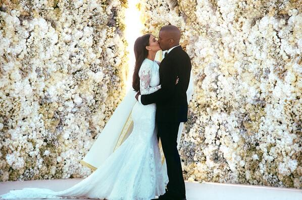 kanye west kim kardashian wedding Hot Shot: Kanye West & Kim Kardashian Share First Wedding Snap