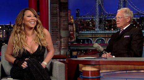 Watch: Mariah Carey Visits 'Letterman' / Talks Album Delay
